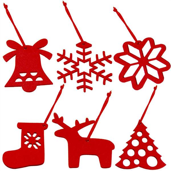 供应圣诞 装饰品 毛毡布挂件雪花挂件 圣诞毛毡挂件 厂家直销