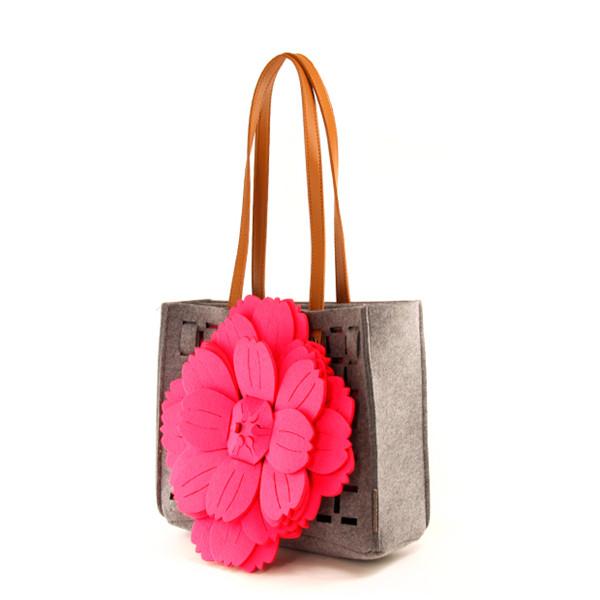 女士毛毡手提包