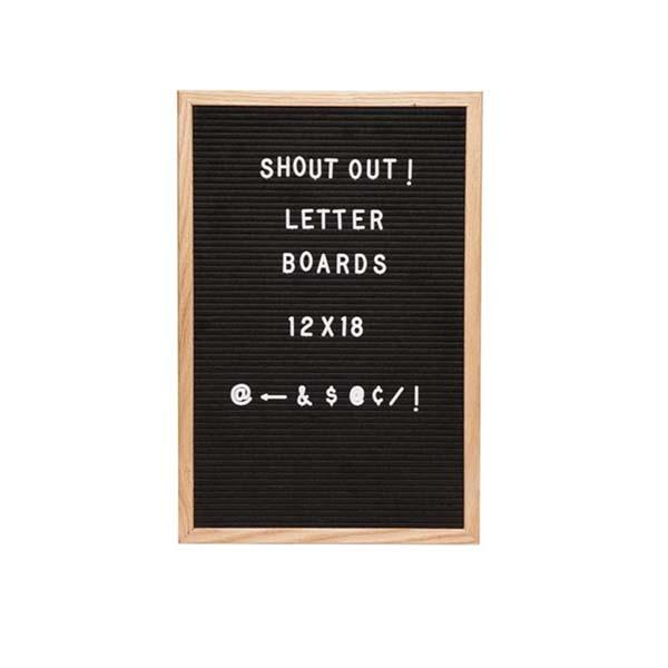黑色毛毡字母板
