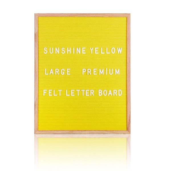 黄色长方形毛毡字母板