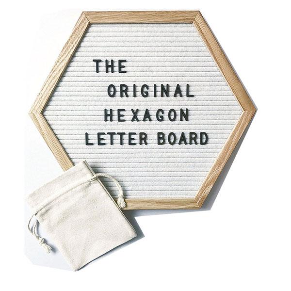 六边形白色毛毡字母板