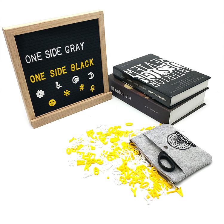 亚马逊热卖双色毛毡字母板带字母套装