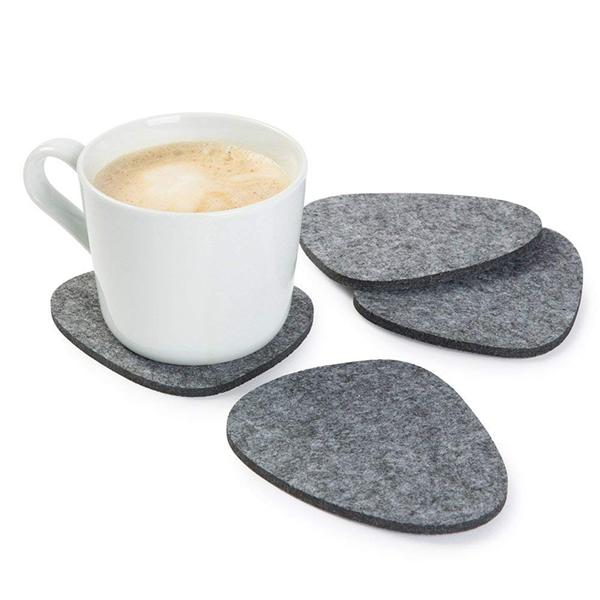 可定制时尚灰色毛毡餐垫