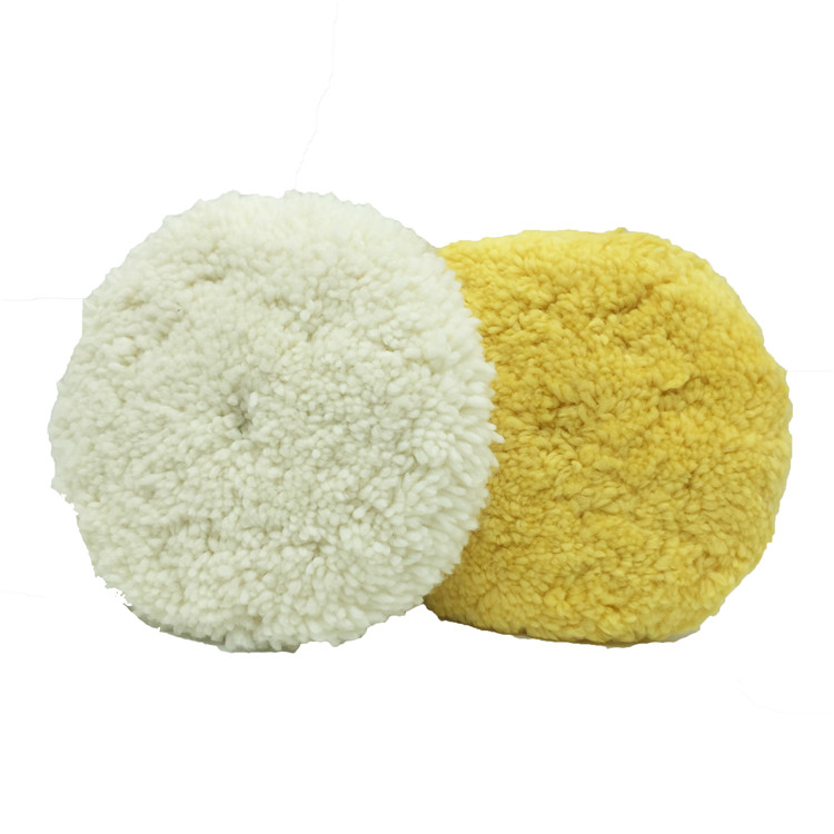 8寸双面毛线轮汽车抛光美容专用黄色白色可选