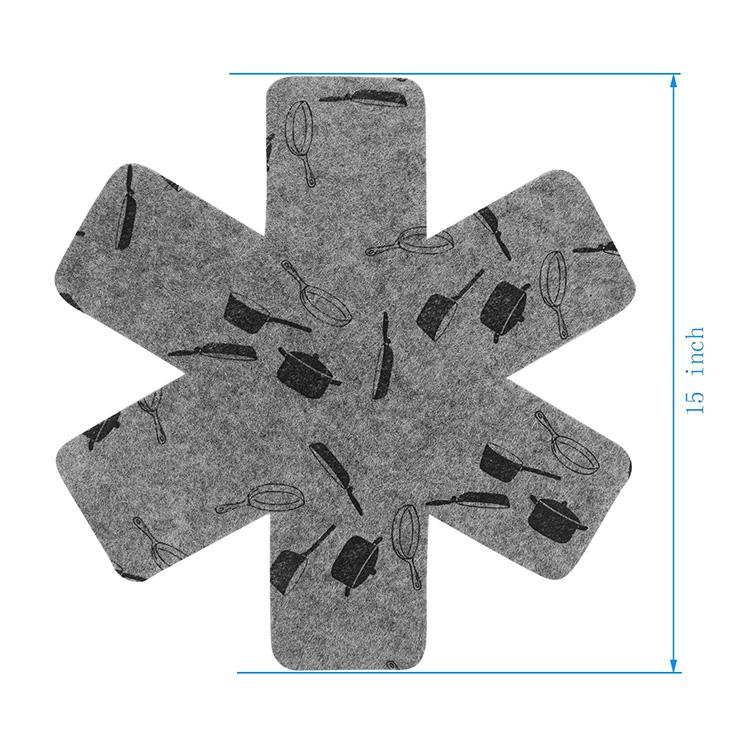 定制尺寸锅分离器厨具垫毛毡炊具保护器锅分隔锅保护器
