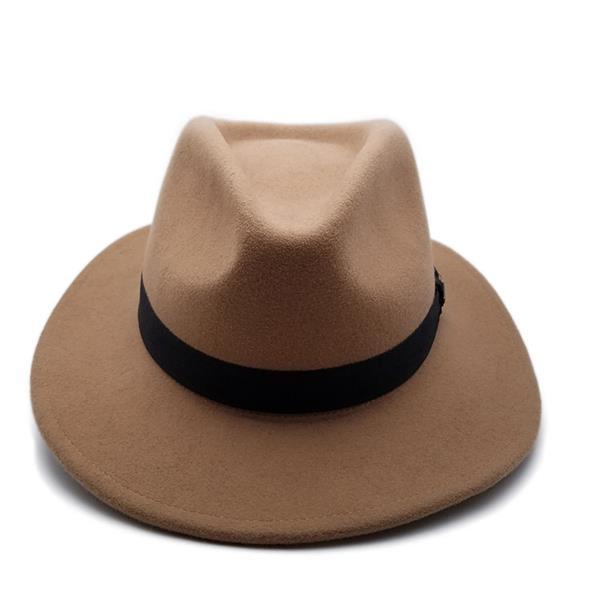 欧美风羊毛礼帽